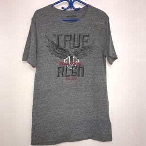 True Religion Dark Grey Graphic Crewneck T-Shirt